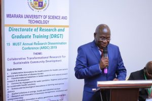 MUST Vice Chancellor Prof. Celestino Obua addresses the opening session