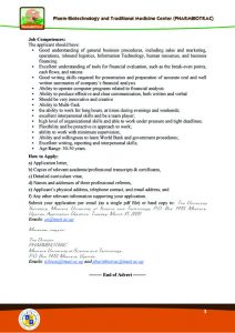 Advert, for PHARMBIOTRAC jobs on MUST Website , Senior Business Advert, for PHARMBIOTRAC jobs on MUST Website , Senior Business Specialist Mbarara UniversitySpecialist(1)3