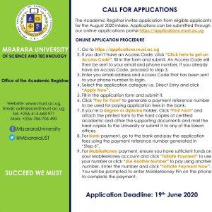 How to apply to Mbarara University